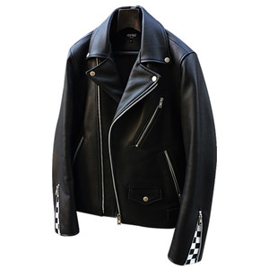 COW LEATHER CHECKMATE RIDER JACKET (리스펙트 소가죽 라이더 자켓)
